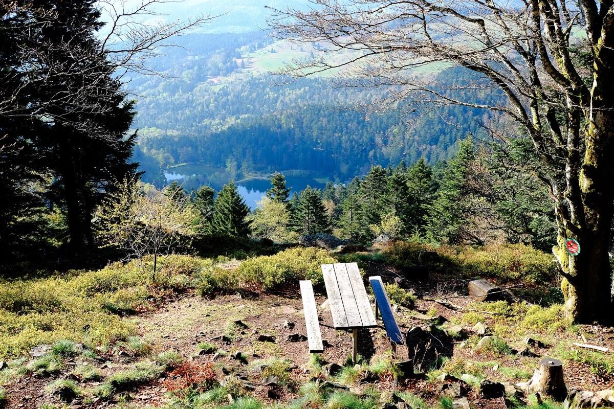 Elsass Vogesen Wanderung Aussicht Lac Neuweiher GR5